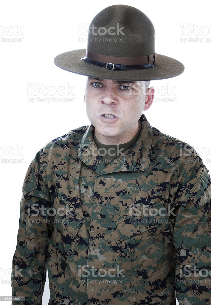 Drill Instructor Stare royalty-free stock photo