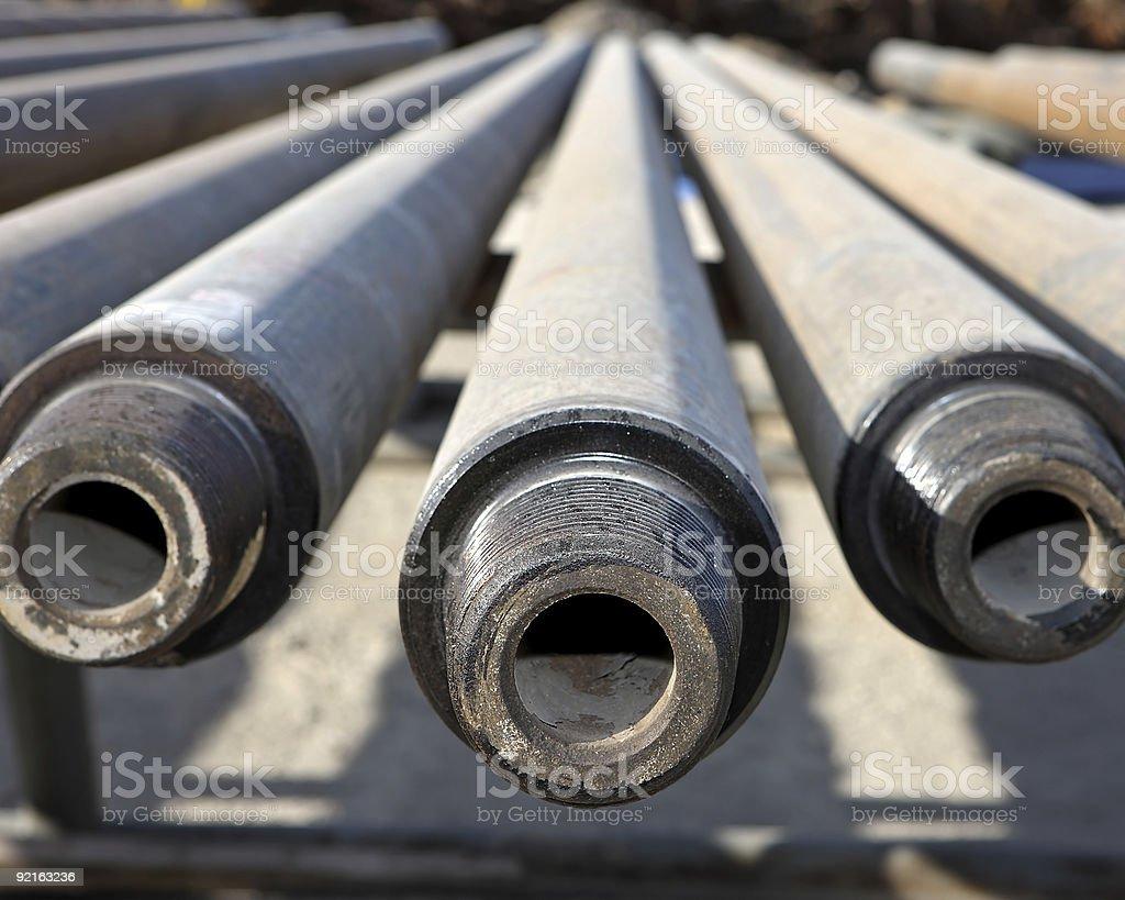 Drill Pipe stock photo