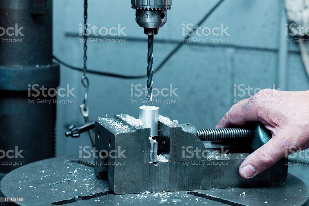 Drill Press Work royalty-free stock photo