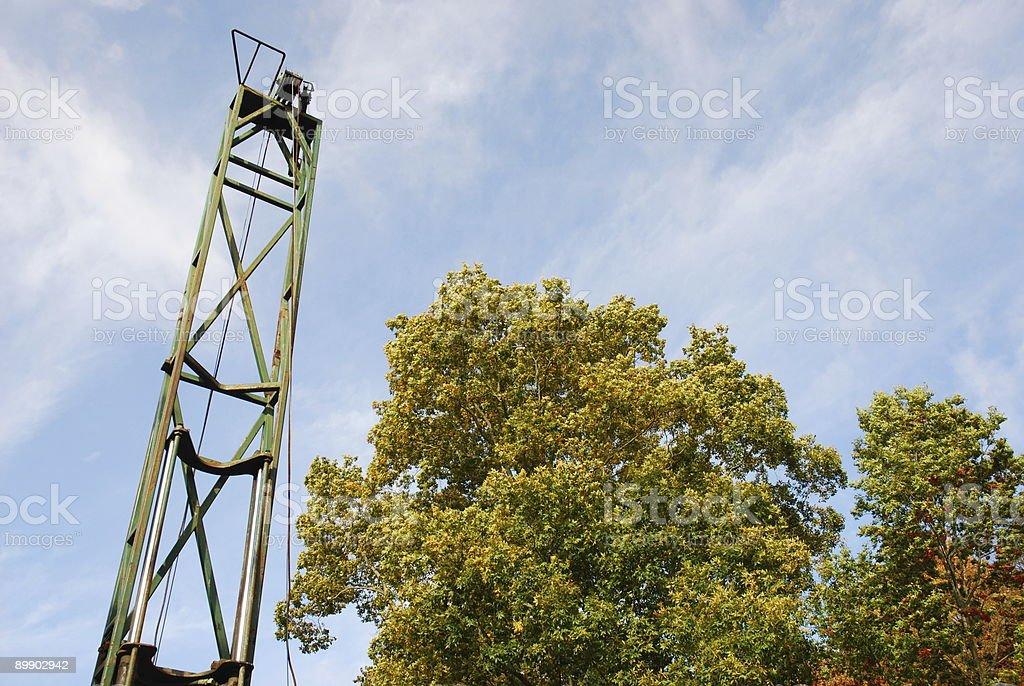 Drill Rig Mast royalty-free stock photo