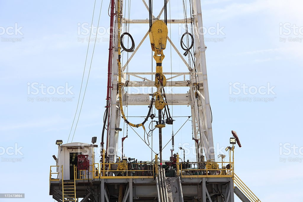 Drill Rig Platform With Block And Tackle royalty-free stock photo