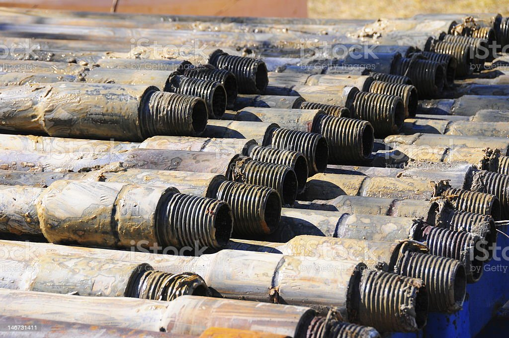 Drill Rods royalty-free stock photo