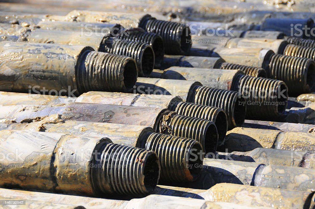 Drill Rods stock photo