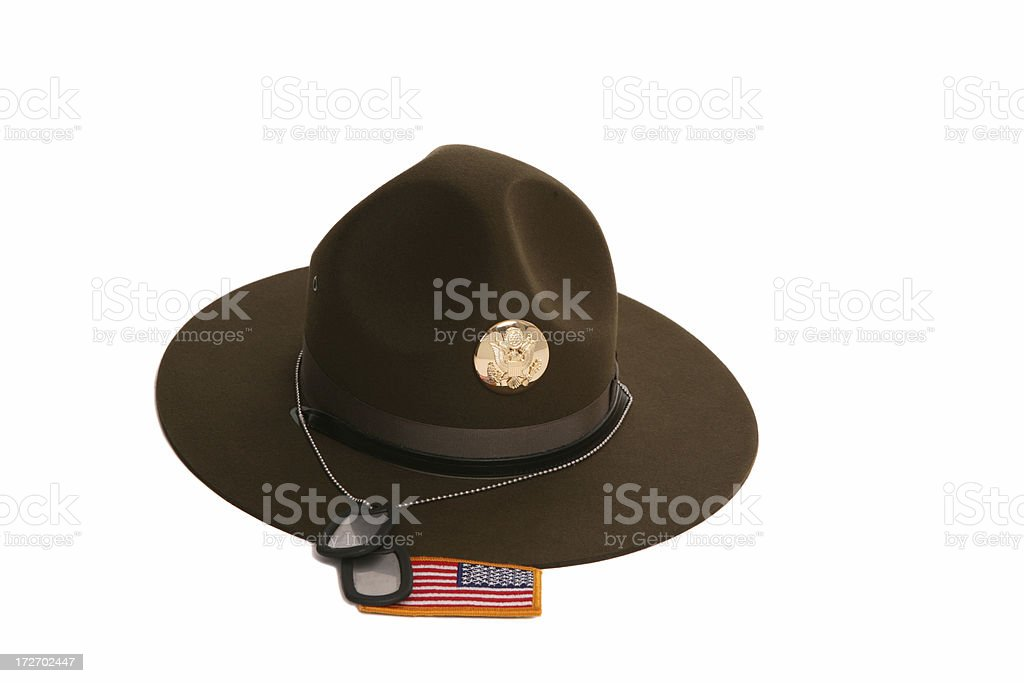 Drill Sargent Hat stock photo
