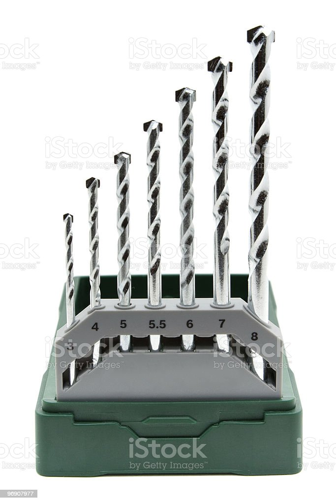 Drill set isolated on white. royalty-free stock photo