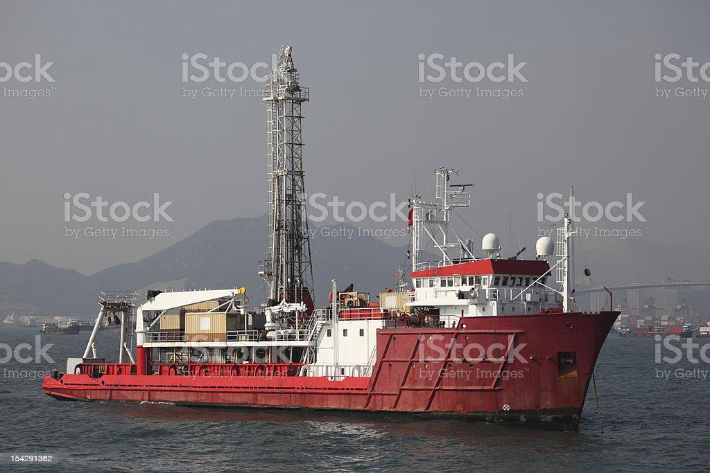 Drill Ship royalty-free stock photo