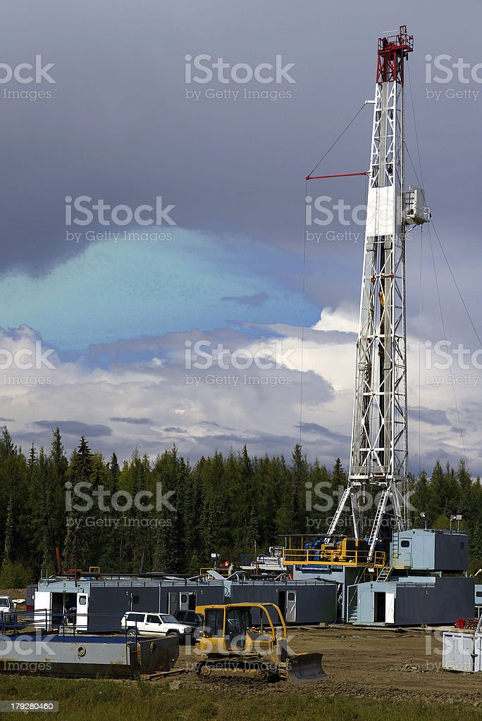Drill Site royalty-free stock photo