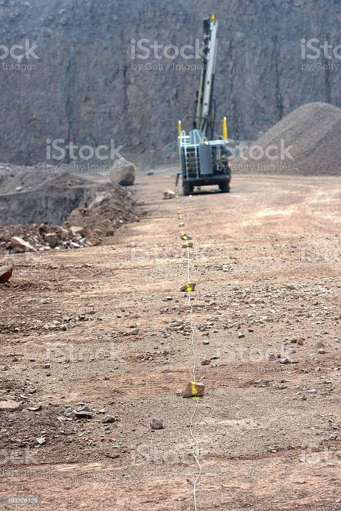 driller in a quarry royalty-free stock photo