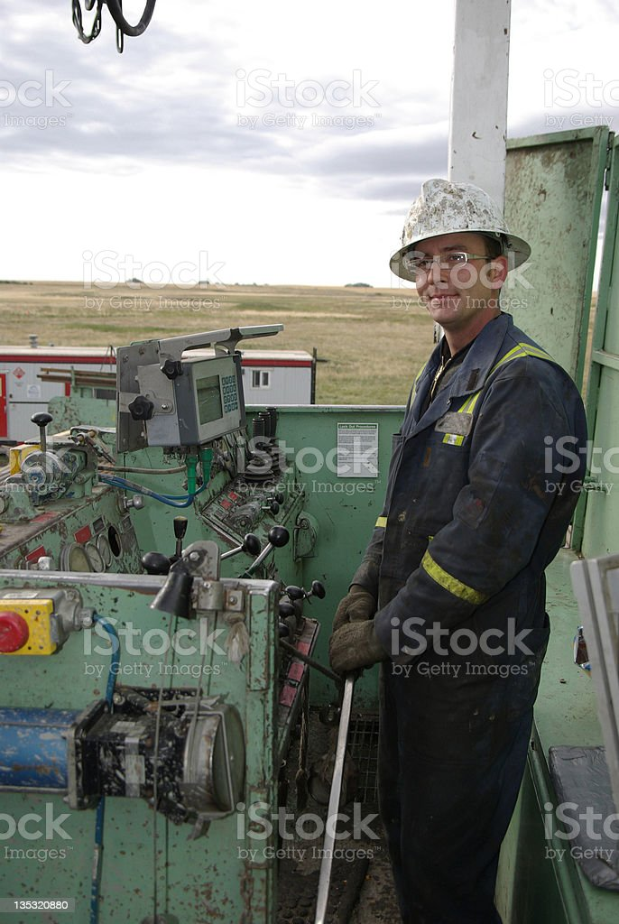 Driller on an oil rig royalty-free stock photo