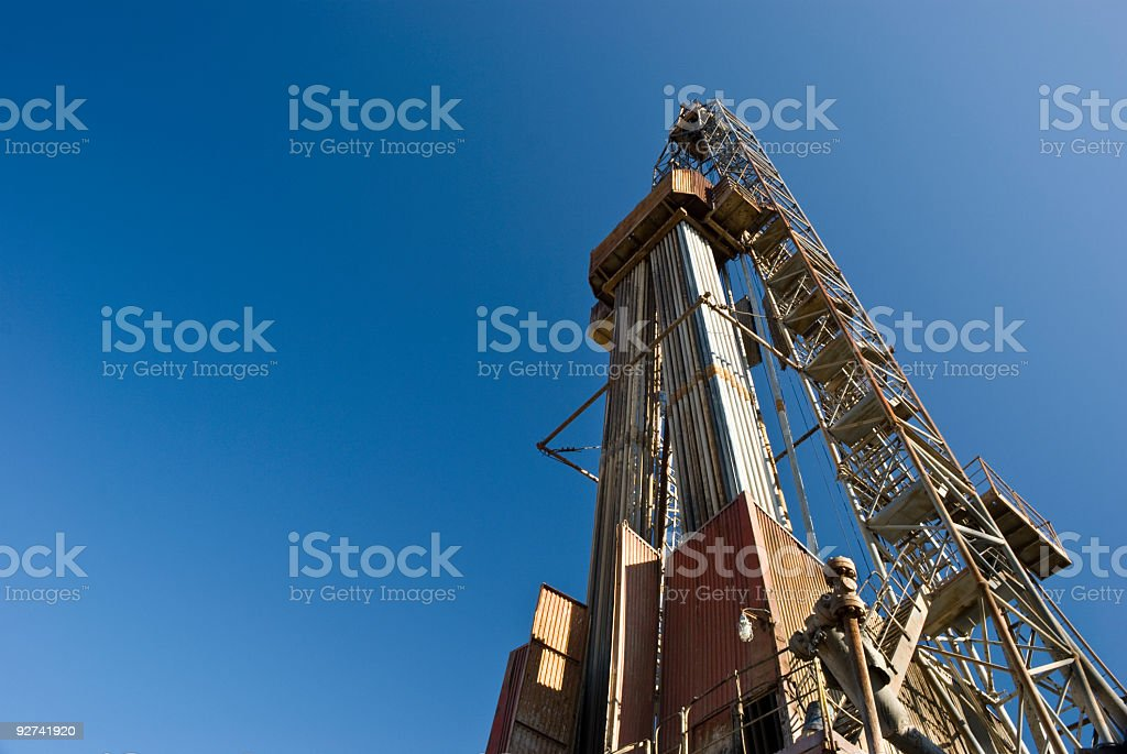 Drilling a deep horizontal well royalty-free stock photo