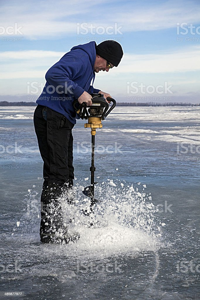 Drilling A Hole royalty-free stock photo