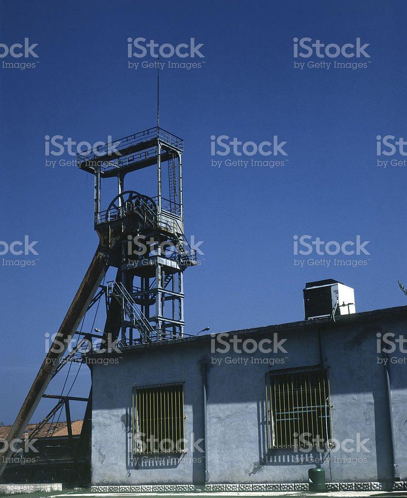 drilling derrick stock photo