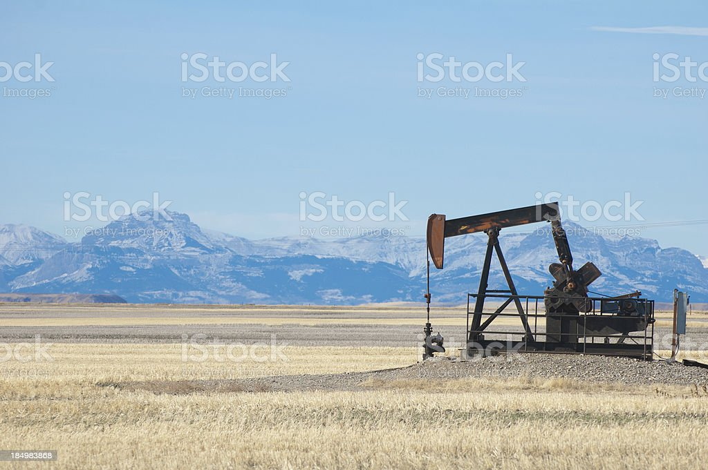 Drilling for Oil stock photo