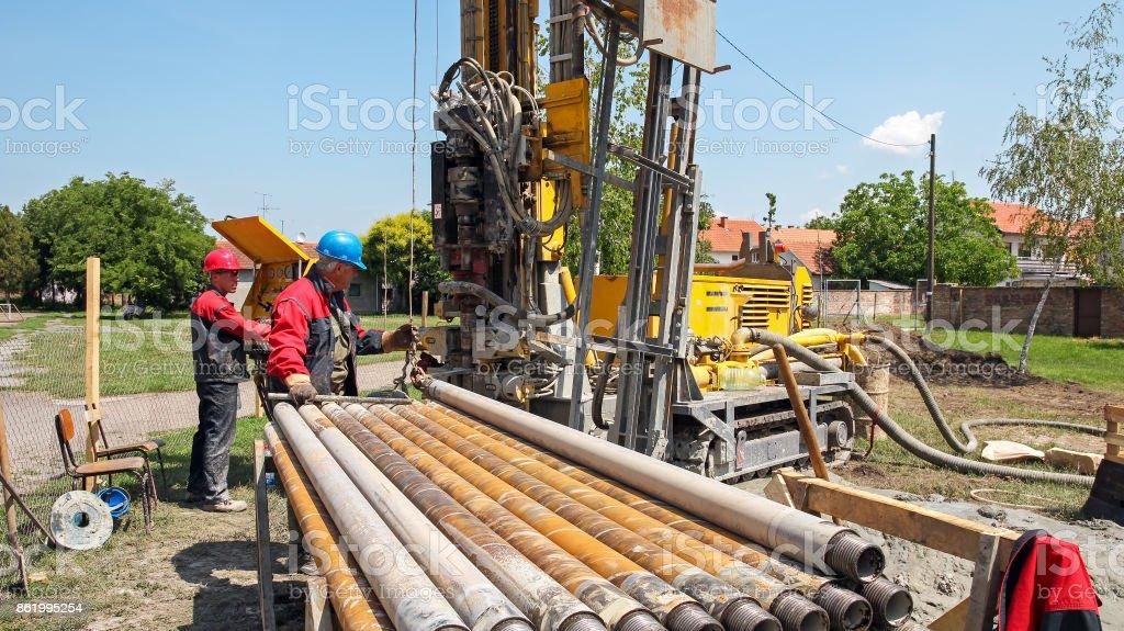 Geothermische Brunnen bohren – Foto