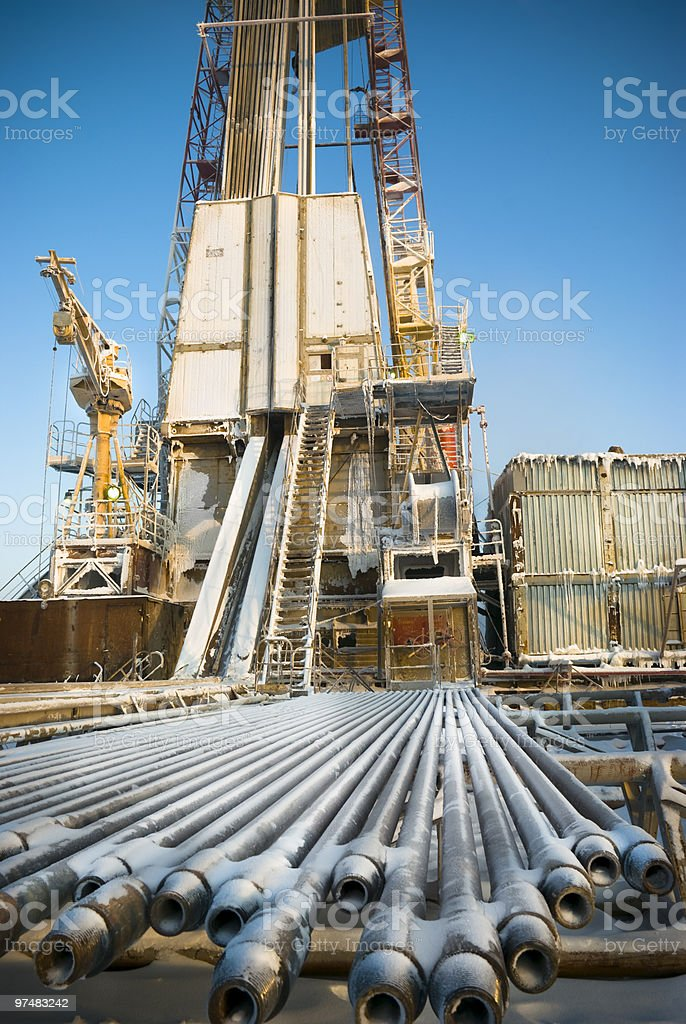 Drilling lines royalty-free stock photo