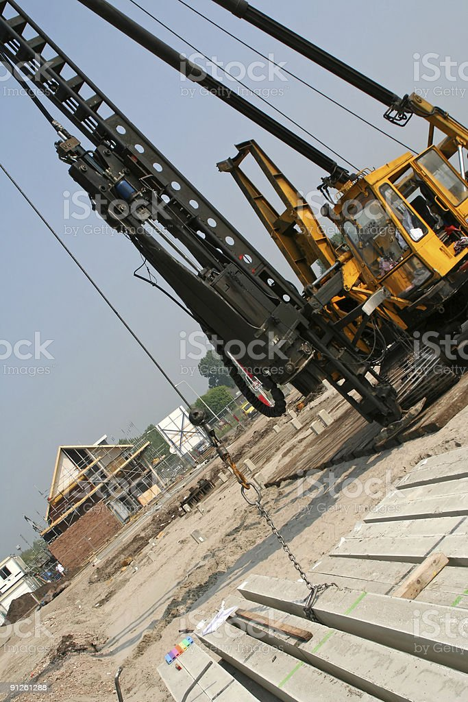 Drilling machine at construction site # 2 royalty-free stock photo