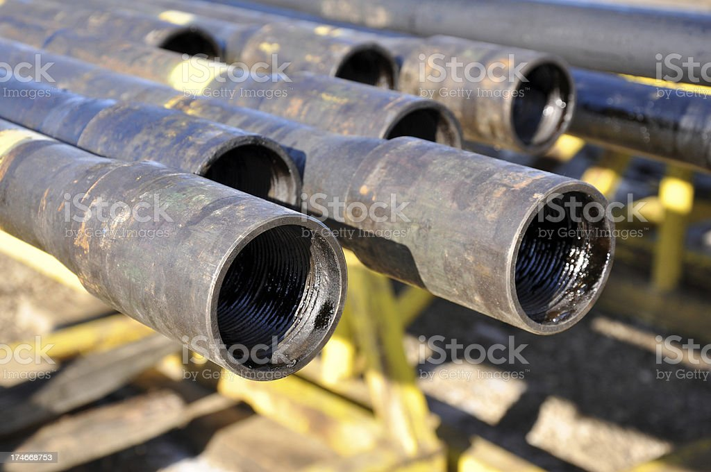 drilling pipe stock photo