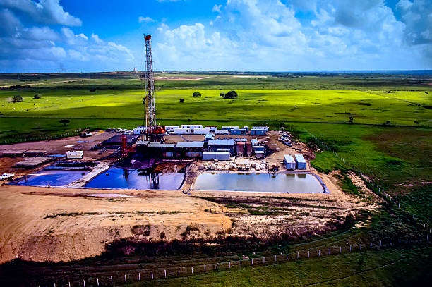 Drilling Rig- Luftaufnahme – Foto