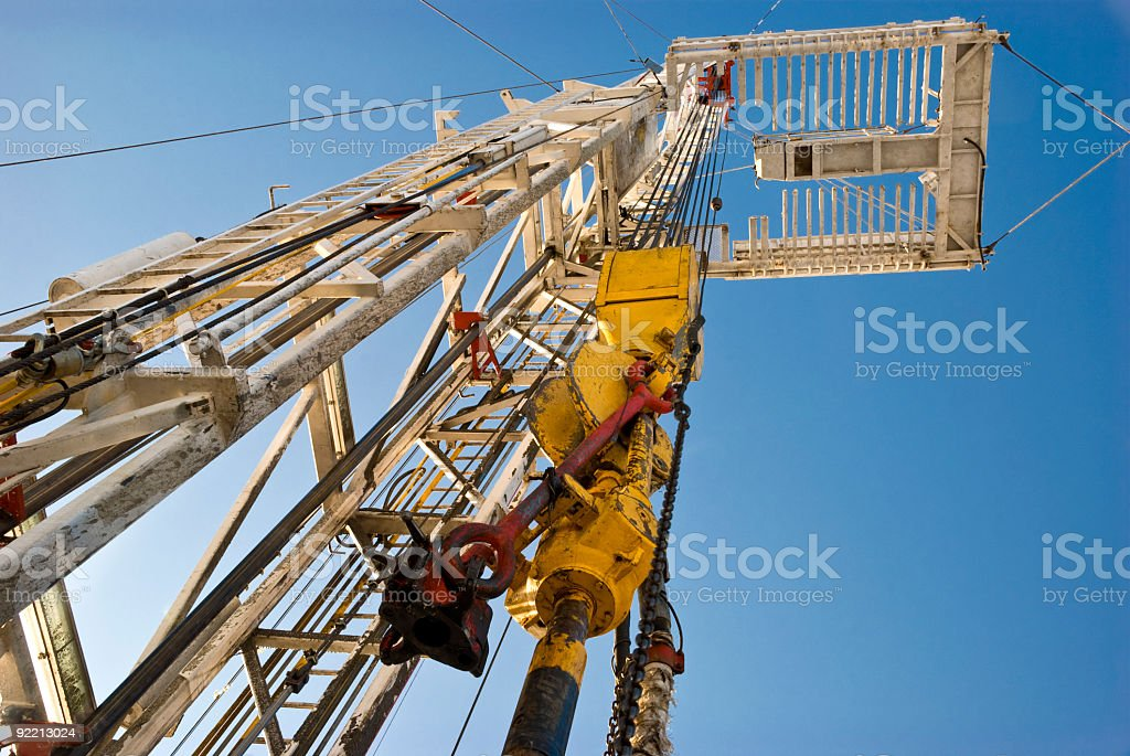 Drilling rig downside up royalty-free stock photo