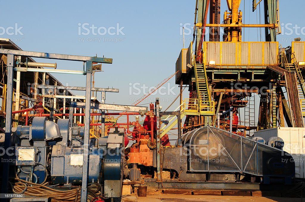 Drilling rig equipment royalty-free stock photo