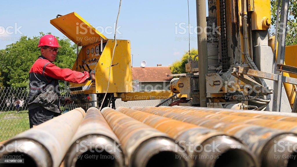Drilling Rig Operator stock photo