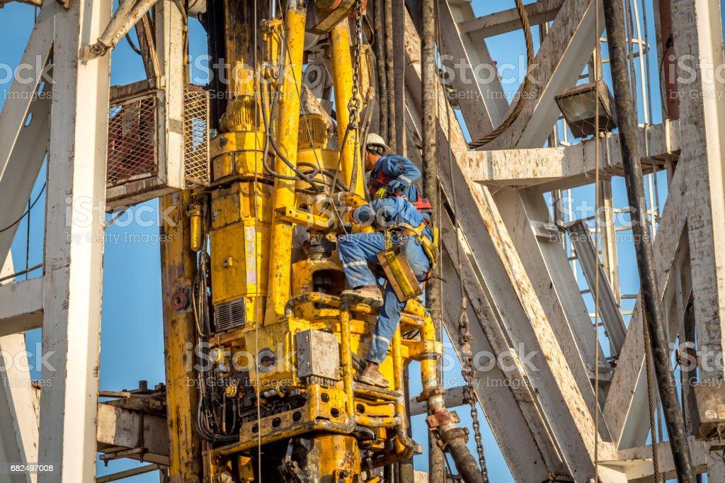 Drilling rig workers Стоковые фото Стоковая фотография