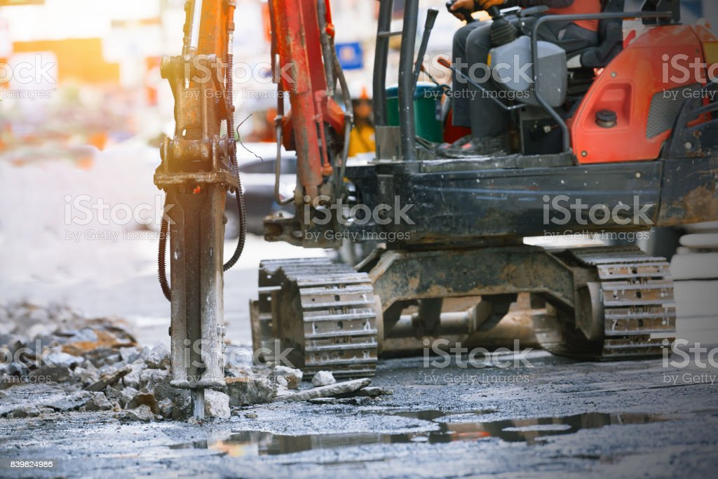Drilling road. stock photo