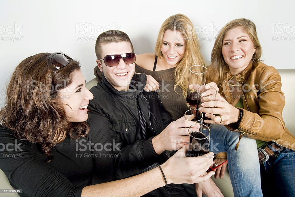 Drink a toast royalty-free stock photo