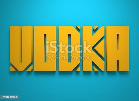istock Drink alcohol beverage. Vodka word lettering 520415690