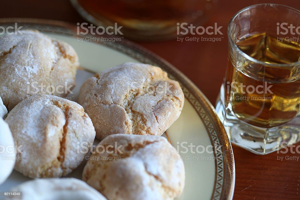 Drink and biscuits#2 royalty-free stock photo