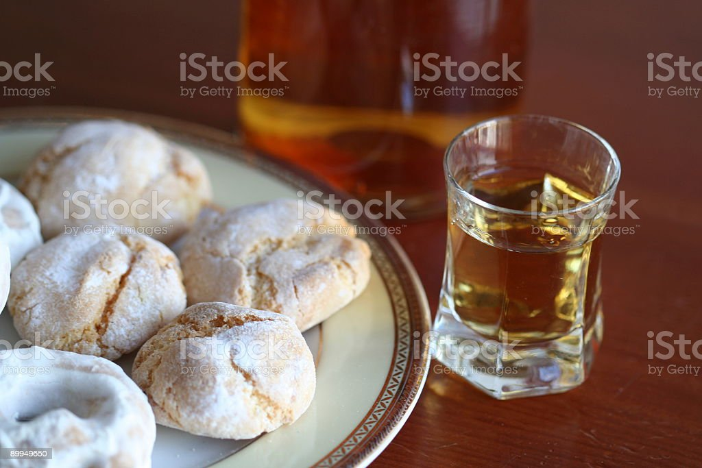 Drink and biscuits#3 royalty-free stock photo