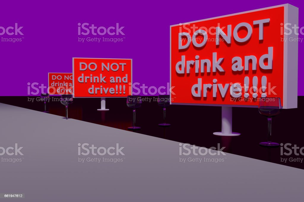 DO NOT drink and drive! stock photo