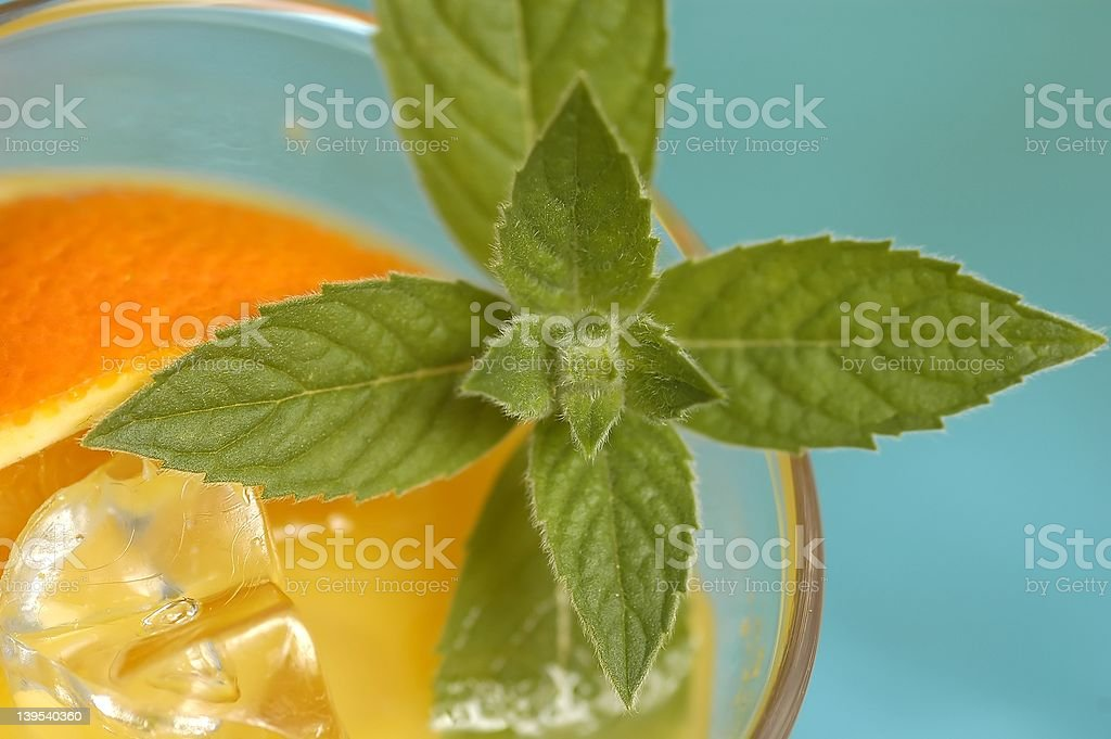 Drink and mint royalty-free stock photo