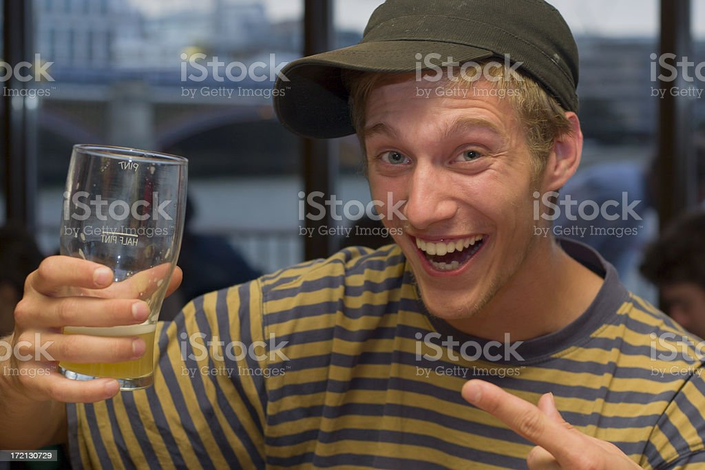 Drink Beer royalty-free stock photo