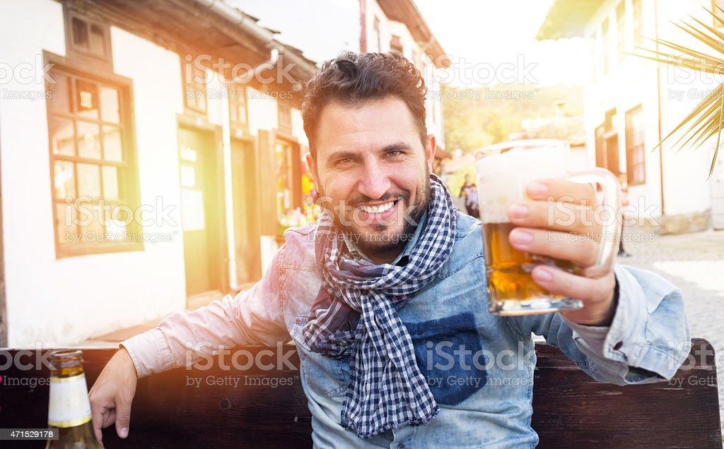 Drink Beer stock photo