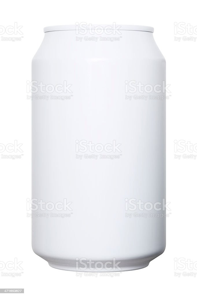 Drink Can With Clipping Path stock photo