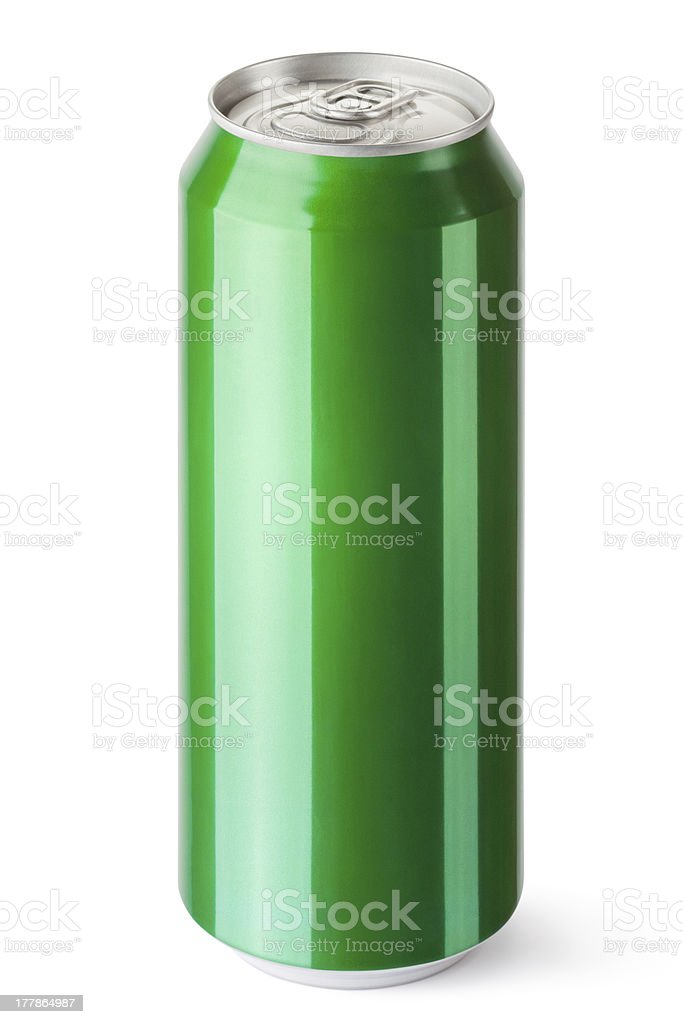 Drink can with the ring pull royalty-free stock photo