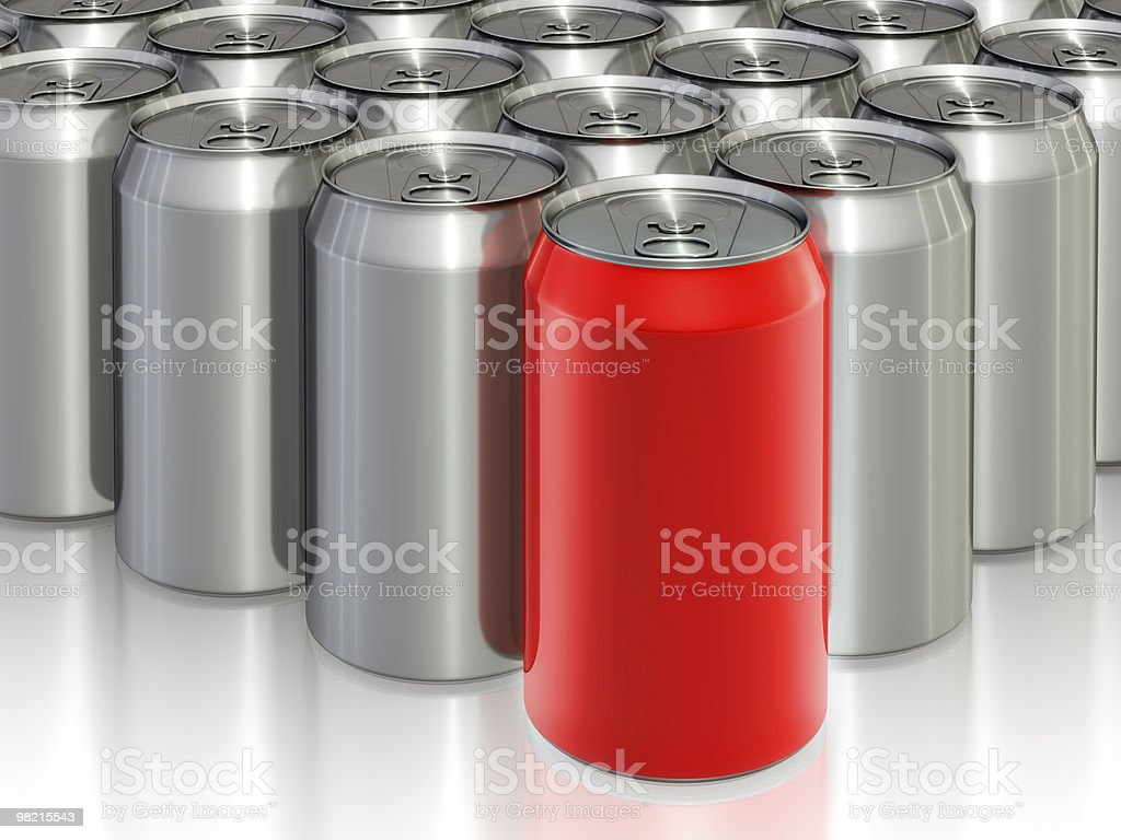 Drink cans royalty-free stock photo