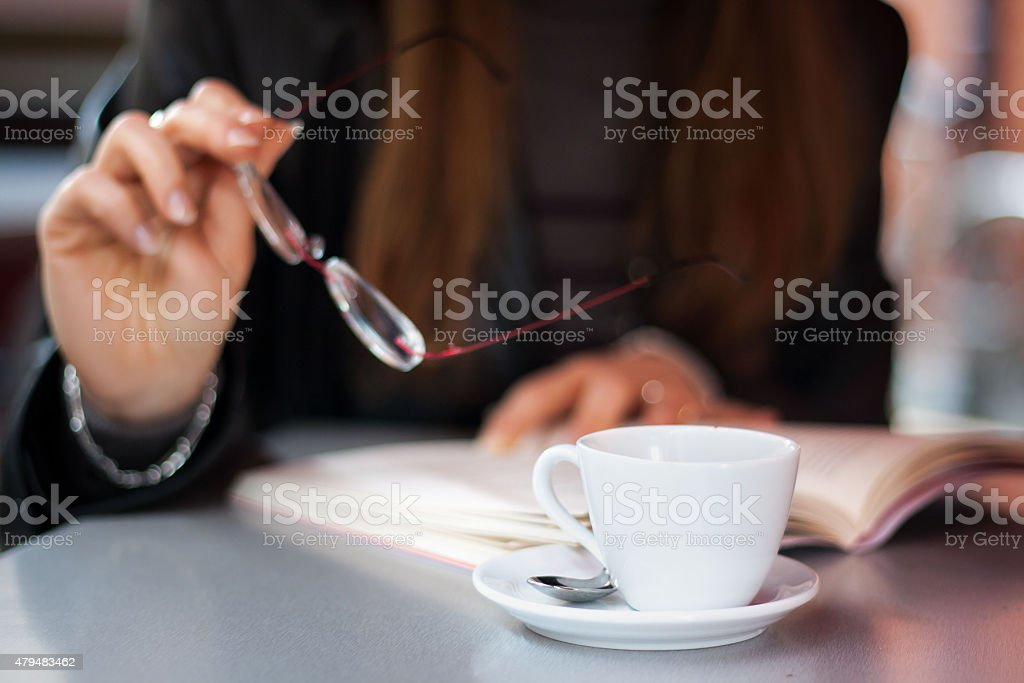 Drink coffe stock photo