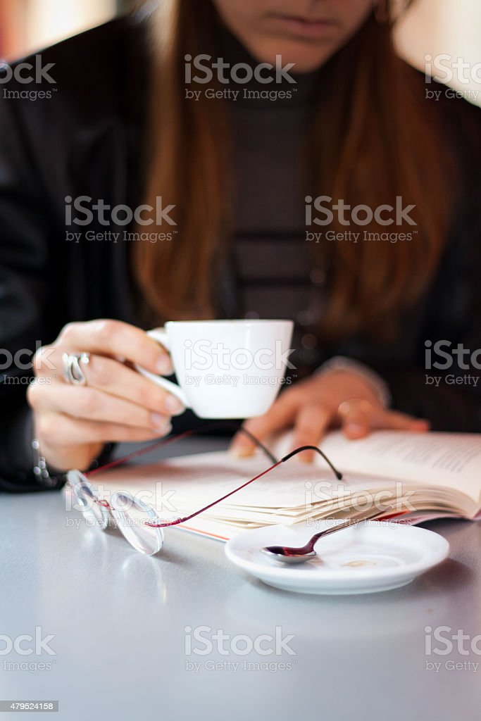 Drink coffe royalty-free stock photo