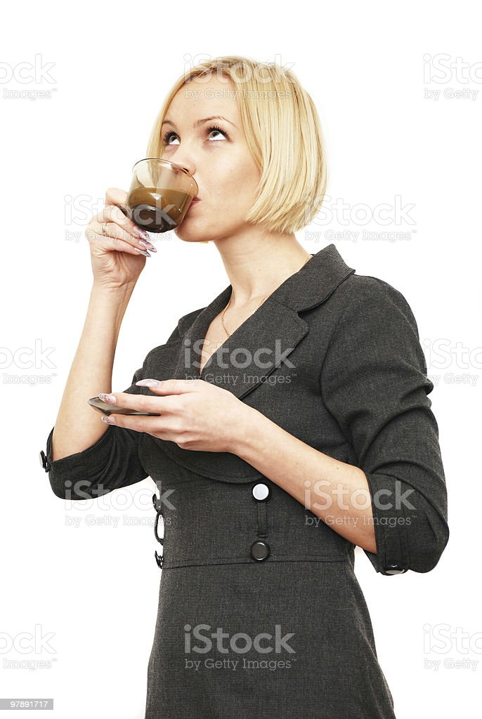 drink coffee royalty-free stock photo