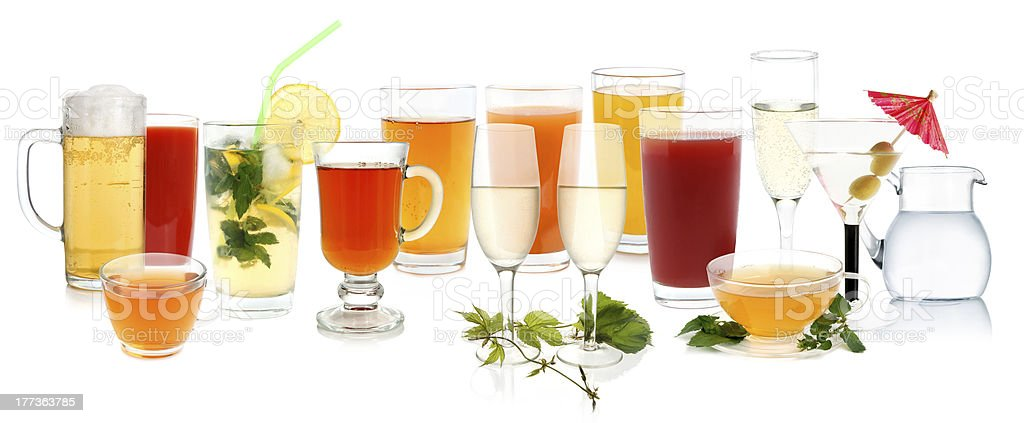 Drink collection royalty-free stock photo
