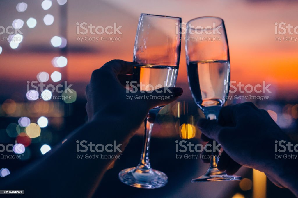 Drink for us stock photo