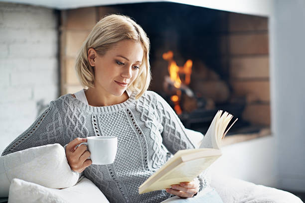 Drink good coffee and read amazing books stock photo