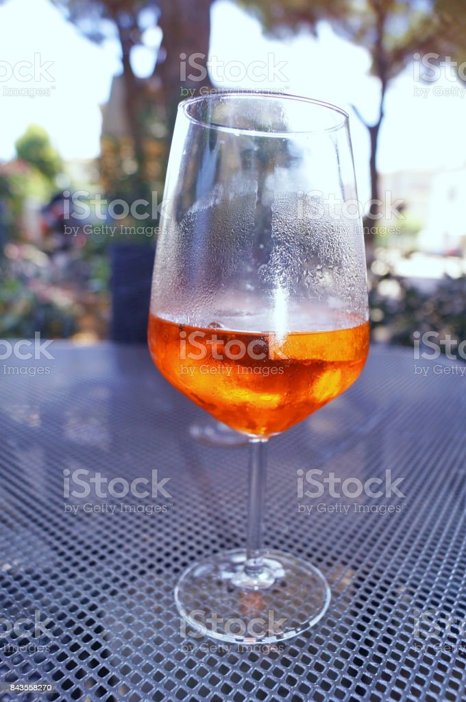 Drink in a glass stock photo