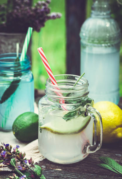 Cтоковое фото Drink infused with citrus and sage