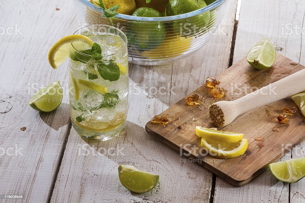 Drink made of citrus fruit with ice royalty-free stock photo