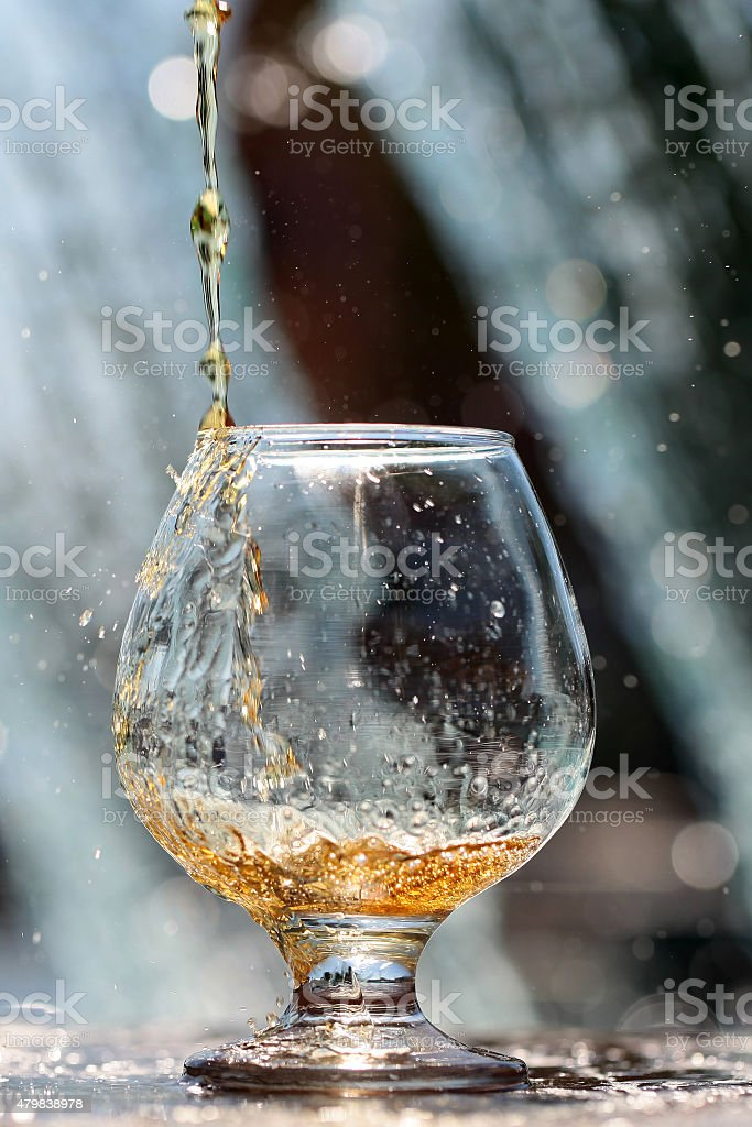 Drink poured in bocal stock photo