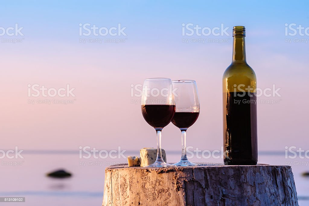 Drink red wine stock photo