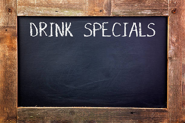 Drink Specials Chalkboard stock photo